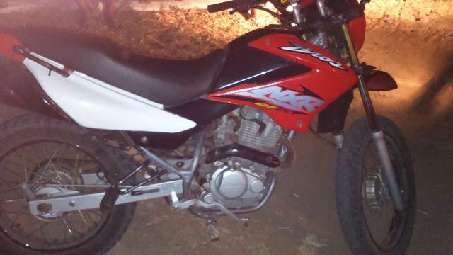 Motocicleta utilizada no crime (Crédito: Reprodução)