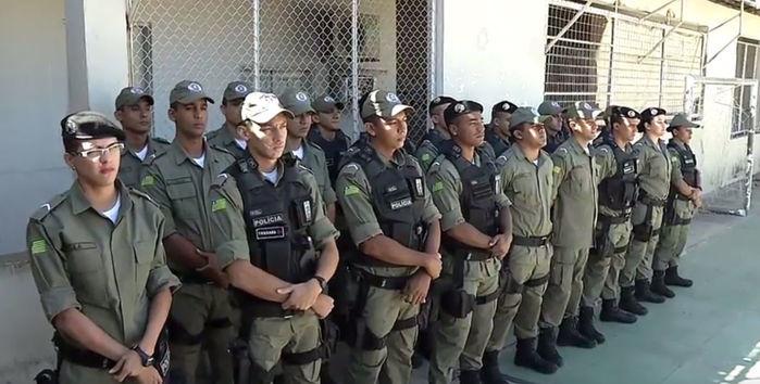 Policiais que reforçam a Companhia Independente do Promorar (Crédito: Reprodução)