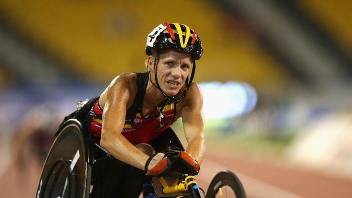 Marieke Vervoort, do atletismo belga, medalhista olímpica em Londres (Crédito: Getty)