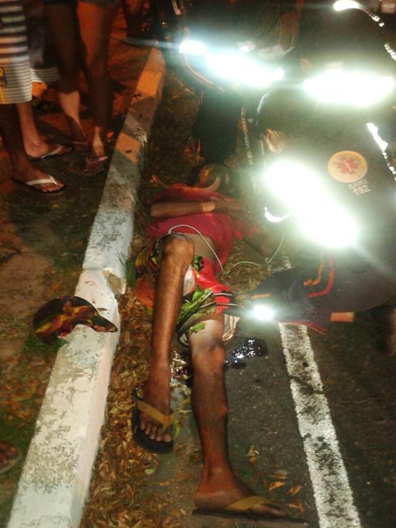 Rapaz foi baleado em assalto (Crédito: Reprodução)