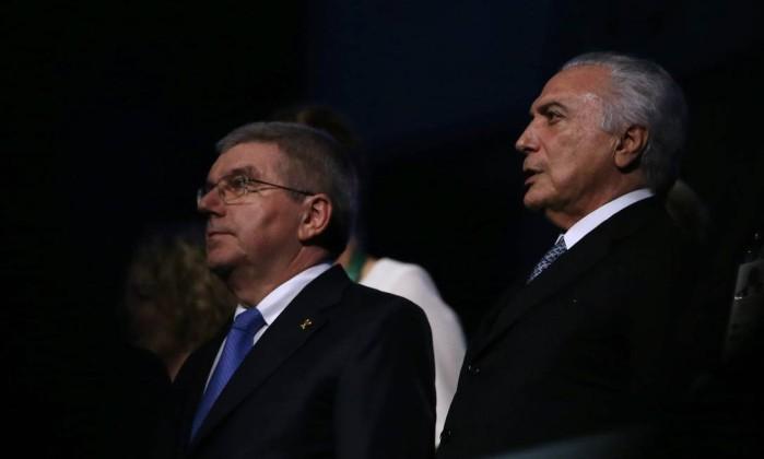 Michel Temer é vaiado durante abertura da Olimpíada no Rio (Crédito: Reprodução)