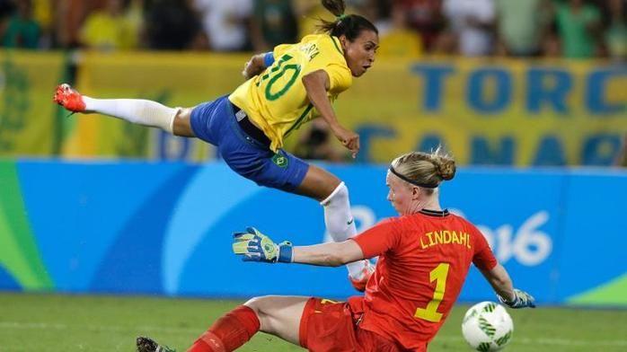 Marta marcou dois gols (Crédito: Reprodução)