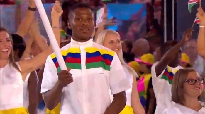 Atleta foi porta-bandeira do país (Crédito: Reprodução )
