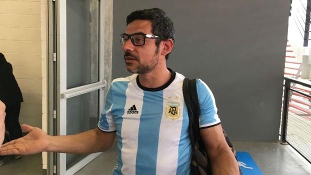 Matías Oliveira, torcedor que trocou socos com brasileiro em jogo de Del Potro (Crédito: Reprodução)