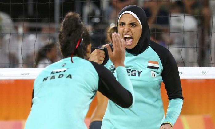 Egipcías enfrentaram alemãs (Crédito: Reprodução)