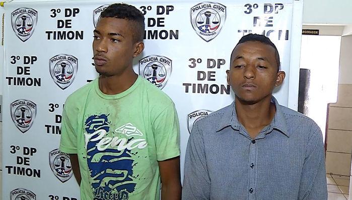 Enteado e padrasto presos por roubo em Timon (Crédito: Reprodução)
