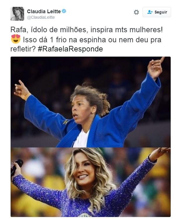 Postagem de Claudinha causou polêmica (Crédito: Reprodução)