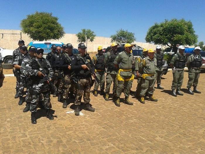 Reforço policial na cidade de Picos (Crédito: Grande Picos)