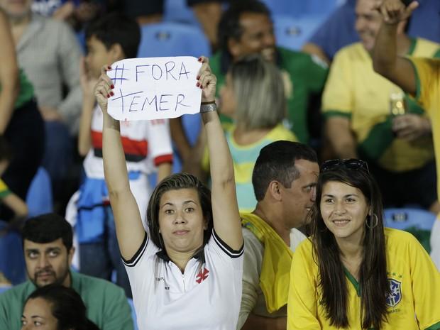 Protestos estavam sendo reprimidos nas Olimpíadas (Crédito: Reprodução)