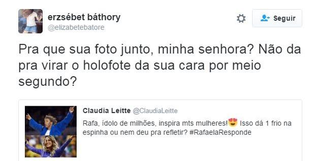 Internauta critica postagem (Crédito: Reprodução)