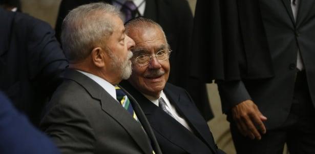 Ex-presidentes Lula e Sarney na posse da nova presidente do STF