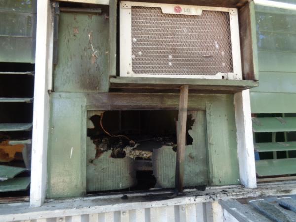 Pane em ar-condicionado provocou princípio de incêndio