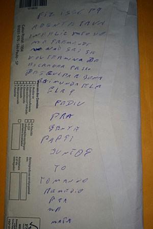 Bilhete escrito à mão estava na casa onde casal foi encontrado morto no DF (Crédito: Reprodução)