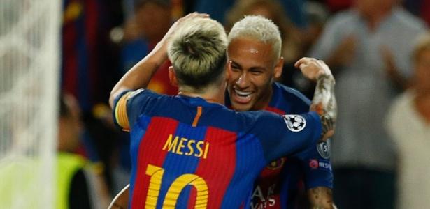 Messi e Neymar brilharam em partida (Crédito: AP)