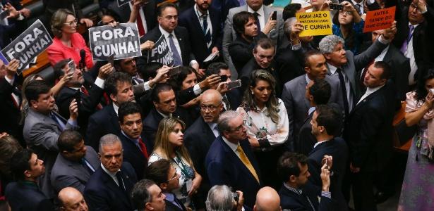 Fora Cunha  (Crédito: Folhapress)