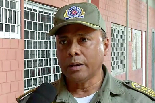 Comandante Edson do 19º BPM (Crédito: Reprodução MN)