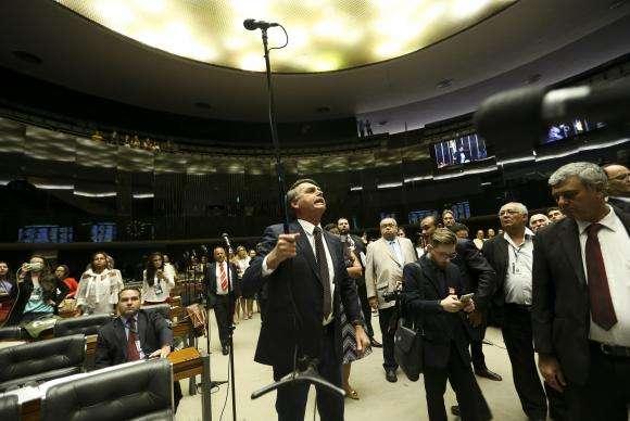Deputado Jair Bolsonaro ficou irritado