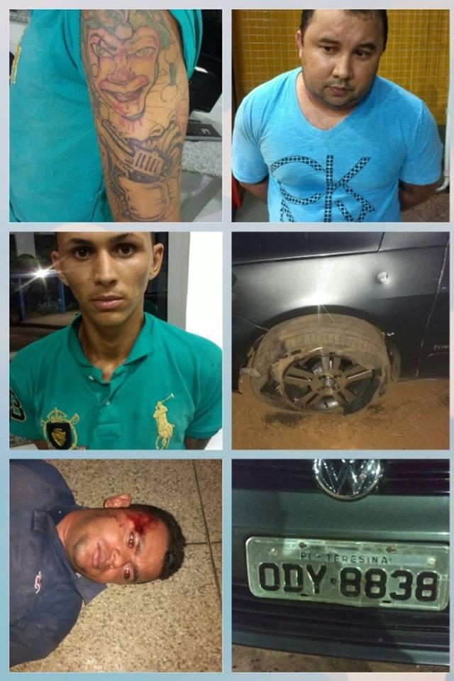 Suspeitos de roubar veículo em Teresina são presos no Maranhão