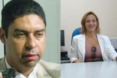 Promotor e juíza do caso de agressão na BA (Crédito: Reprodução)