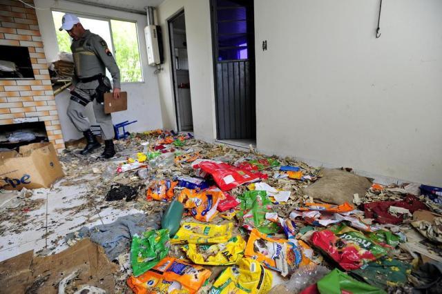 Casa onde os animais foram encontrados mortos (Crédito: Reprodução)