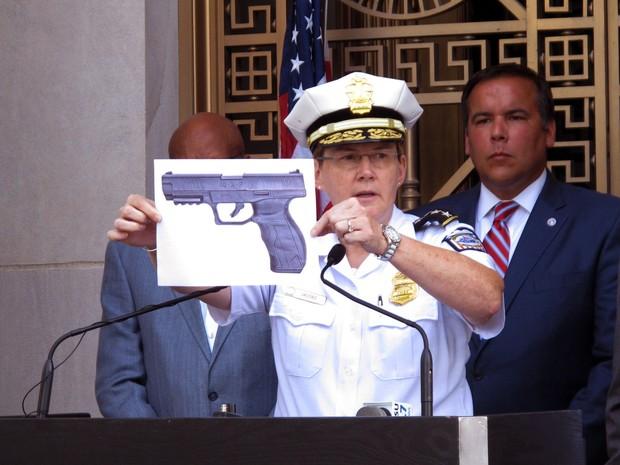 Arma usada pelo policial