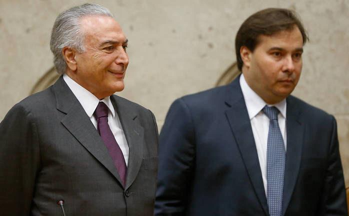 Michel Temer e Rodrigo Maia (Crédito: Reprodução)