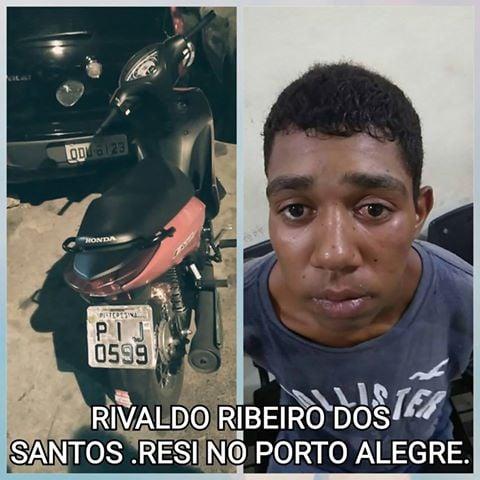 Suspeito de roubar moto (Crédito: Plantão Policial Pi)