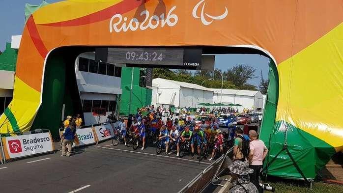 Largada do ciclismo de estrada  (Crédito: Divulgação)
