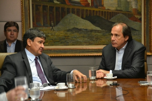 Governador durante reunião com presidente da CSN, Benjamin Steinbruch