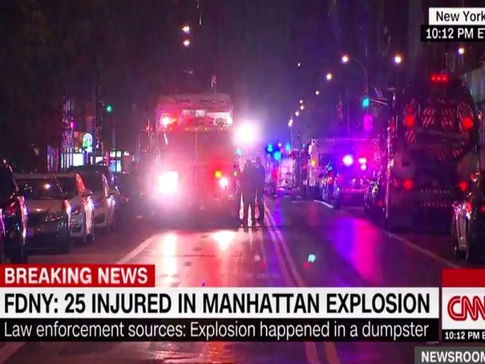 Explosão na cidade de Nova York (Crédito: Reprodução)