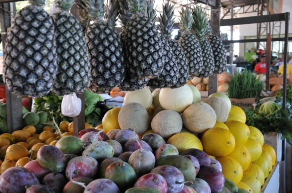 Venda de frutas no local cresceu cerca de 20% (Crédito: Francisco Leal)