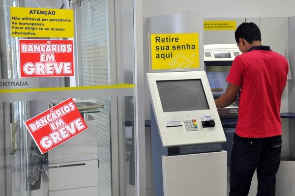 Greve dos bancários entra na terceira semana (Crédito: Reprodução)