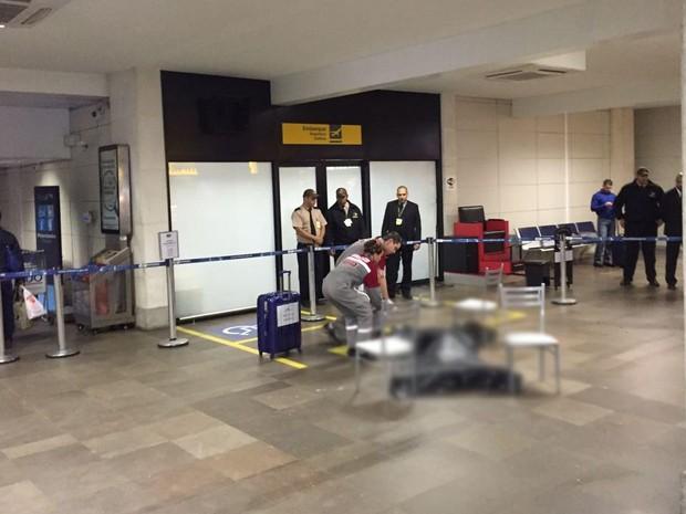 Jovem foi morto em aeroporto  (Crédito: G1)