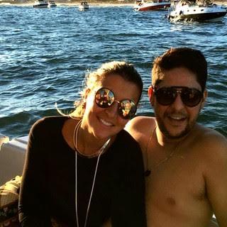 Jorge com sua esposa Ina Freitas