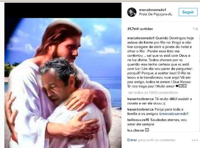 Marcelo Serrado fez homenagem a Domingos (Crédito: Reprodução/ Instagram )