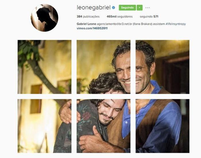 Homenagem feita no Instagram do ator (Crédito: Reprodução)