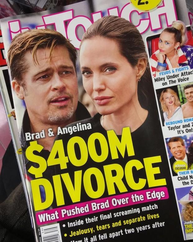 Angelina Jolie e Brad Pitt estão se separando, afirma tablóide (Crédito: Reprodução)