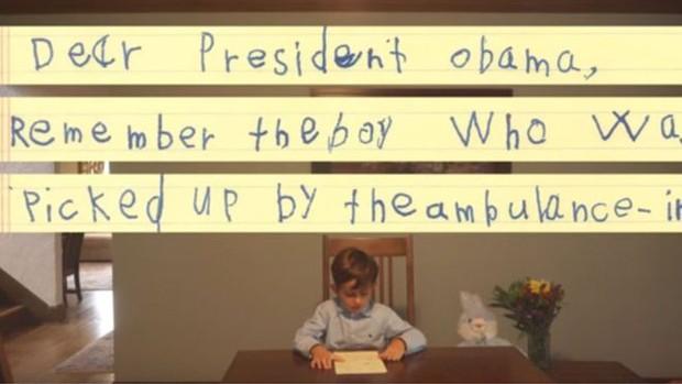 Alex enviou carta a Obama (Crédito: Reprodução)