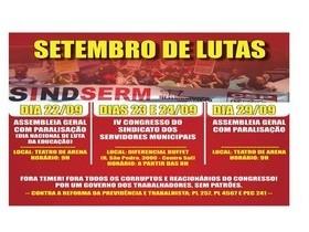 Trabalhadores da educação se mobilizam contra as reformas de Temer
