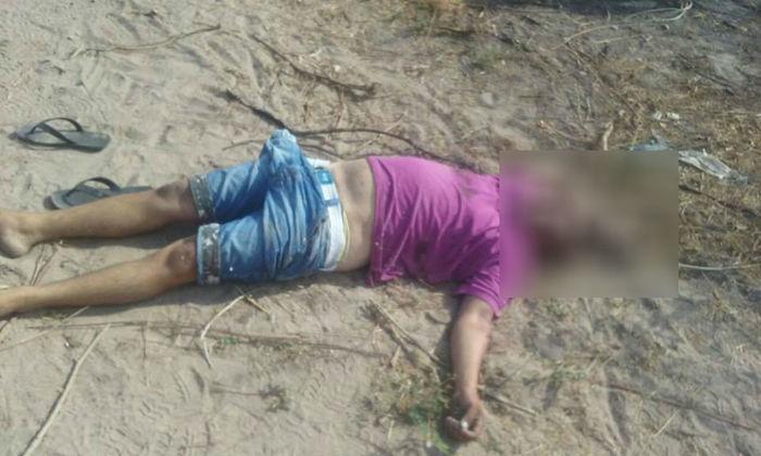 Corpo encontrado na manhã de hoje (Crédito: Divulgação/ Polícia Militar)
