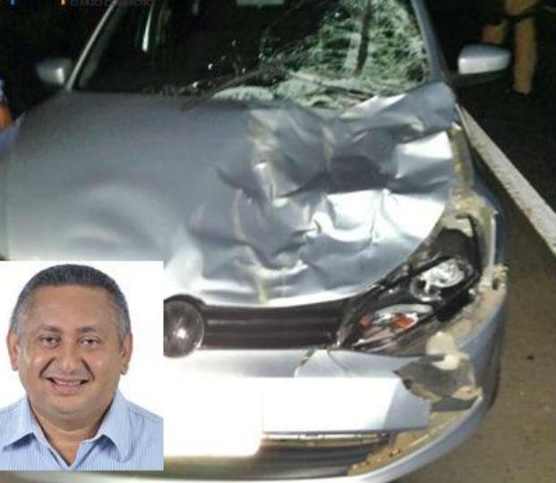 Paulo Limeir colidiu com animal na BR-343