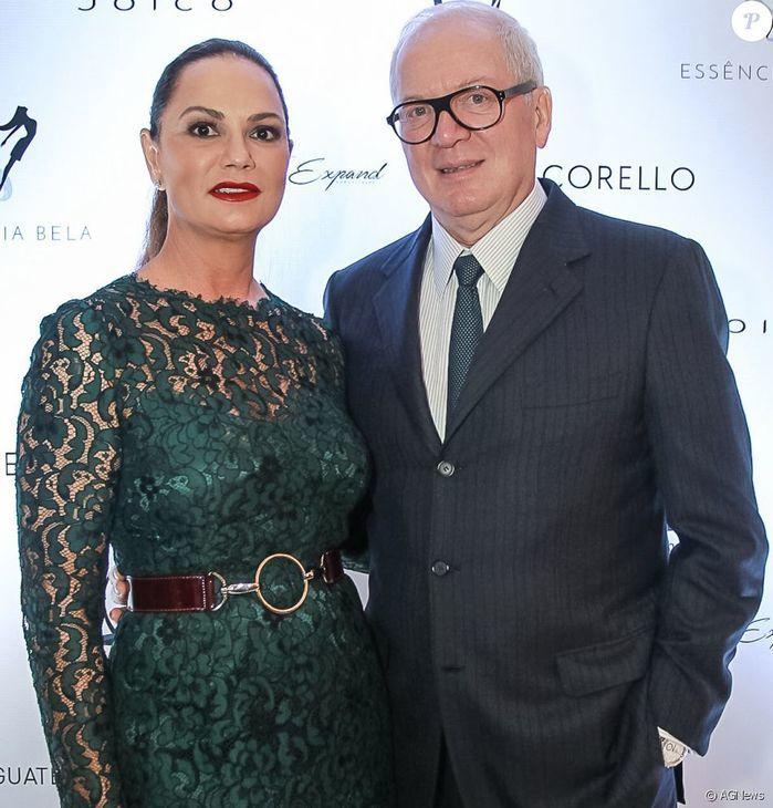 Luiza Brunet ao lado do ex-marido,empresário bilionário Líro Albino Parisotto