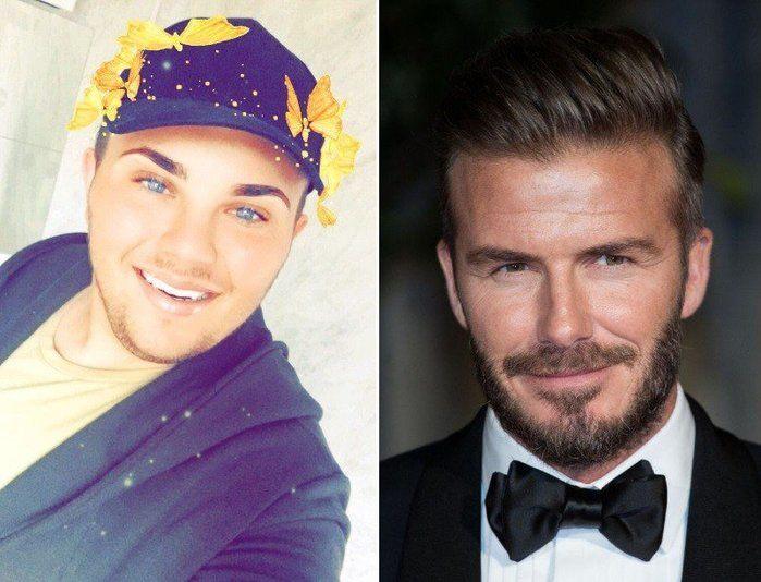 Jovem gasta cerca de R$ 85 mil para ficar igual a David Beckham (Crédito: Reprodução)