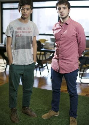 Kim Kataguiri e Renan Santos na sede do MBL (Crédito: FolhaPress)