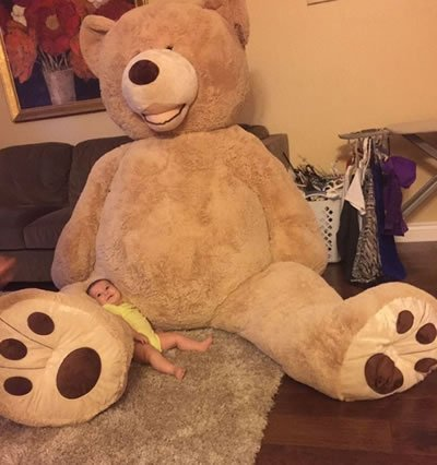 Urso de pelúcia gigante (Crédito: Reprodução)