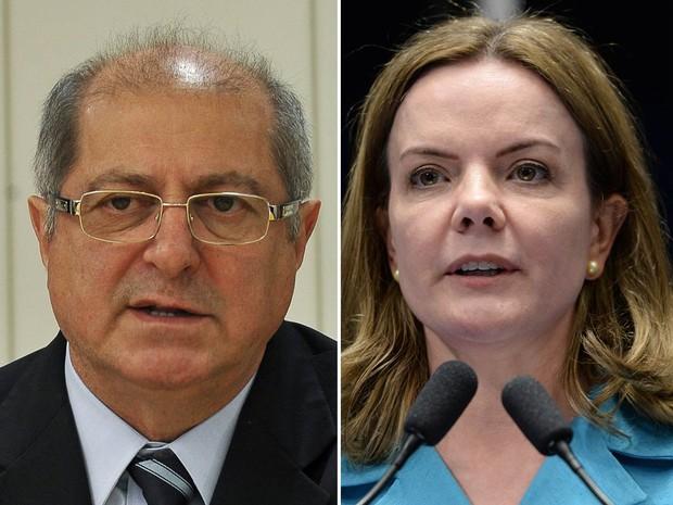 Ex-ministro Paulo Bernardo e a senadora Gleisi Hoffman, (Crédito: Divulgação)