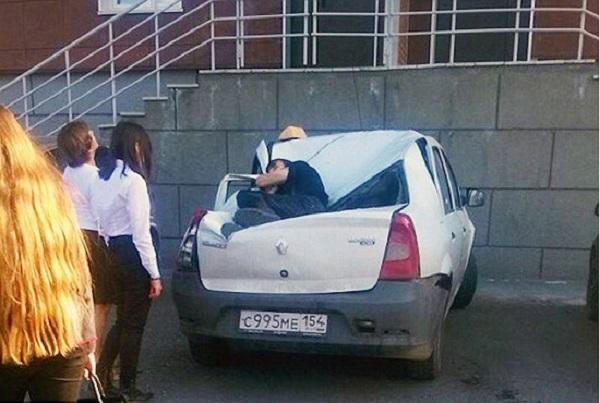 Adolescente caiu após tentar impressionar garota (Crédito: Reprodução)