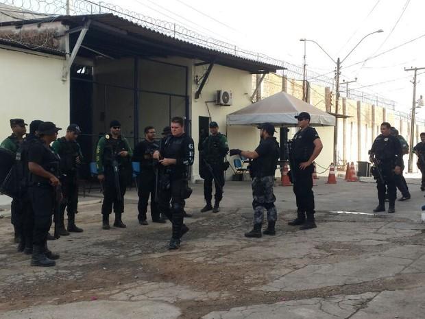 Agentes fazem vistoria no Complexo de Pedrinhas, no Maranhão (Crédito:  Clayton Monteles/Seap)
