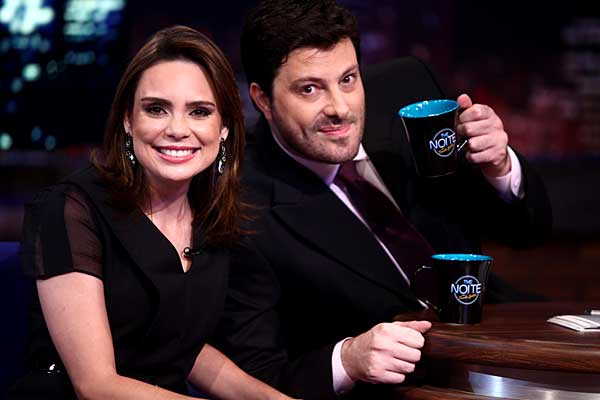 Danilo Gentili e Rachel Sheherazade (Crédito: Divulgação)
