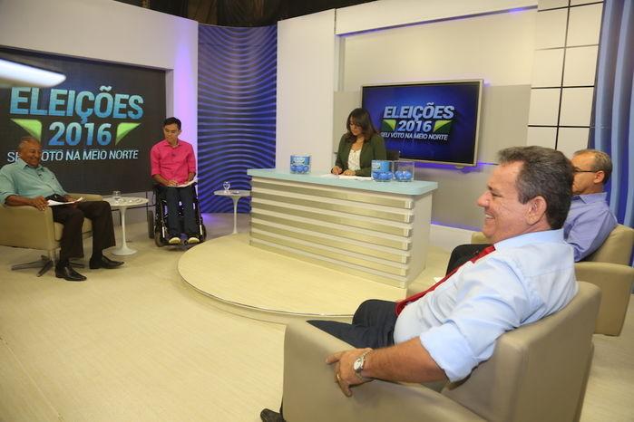 Candidatos participam de debate na Rede Meio Norte (Crédito: Efrem Ribeiro)